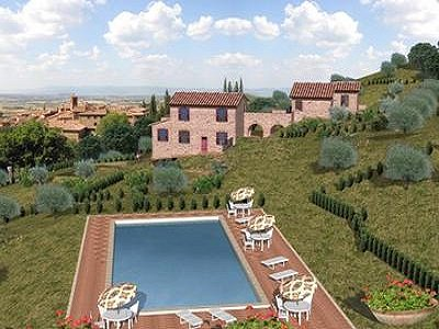 Image 2 | Farmhouse for sale with 0.4 hectares of land, Paciano, Perugia, Umbria 153470