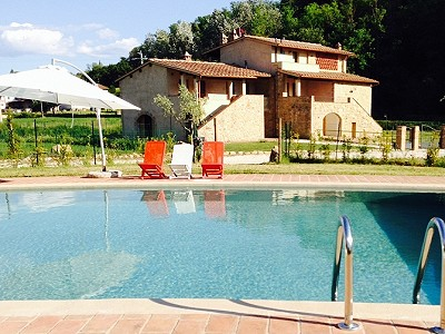 Excellent holiday complex, 8 gites within 3 buildings in Volterra, Tuscany for sale with land