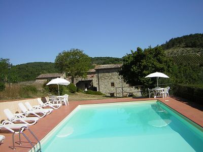 Chianti Estate for Sale with Vineyard and Apartments for Rent  in Tuscany