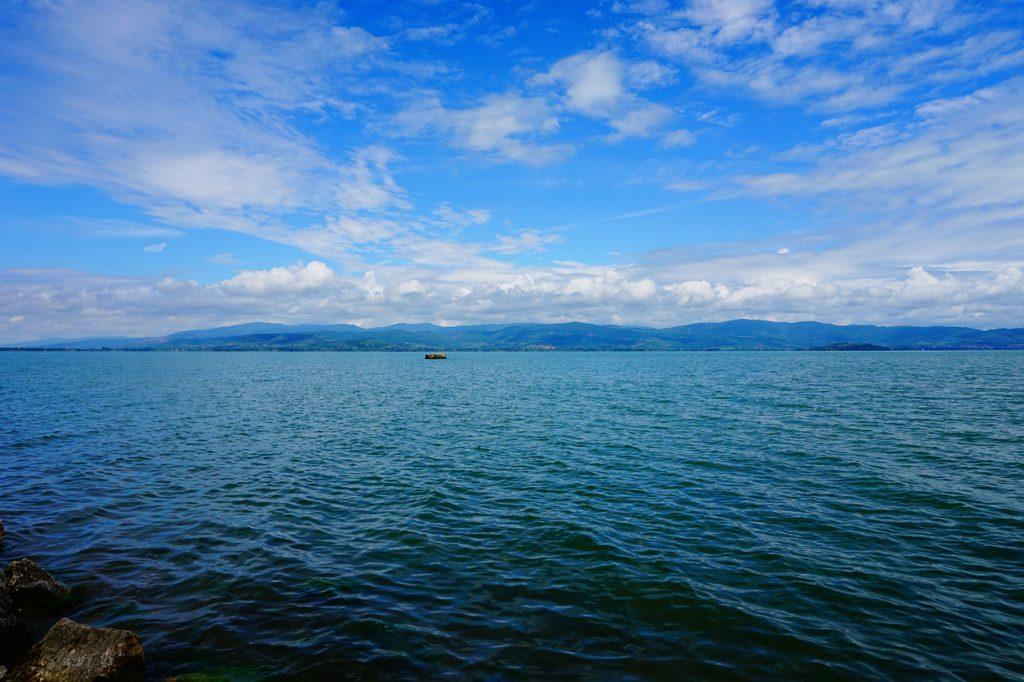 Lake Trasimeno near property for sale in Italy.
