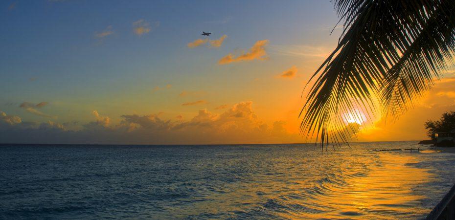 sunset on Barbados beach next to our luxury Barbados property.