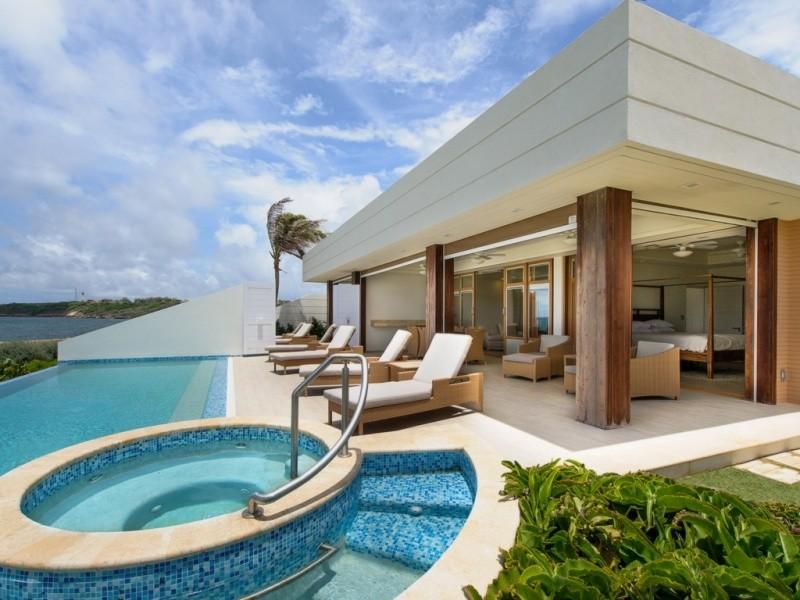 Barbados villa for sale with pool and sea views.
