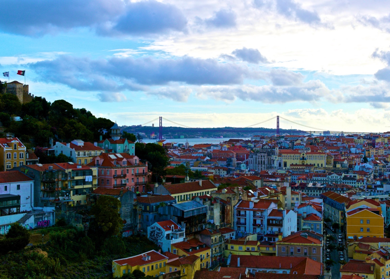 Lisbon seen from Graça at the end of the day