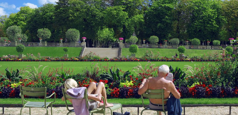 elderly couple on their Marbella property