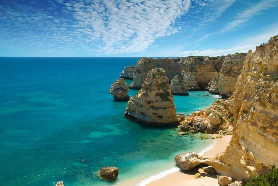 Algarve beach near Prestige Property Algarve villa for sale.