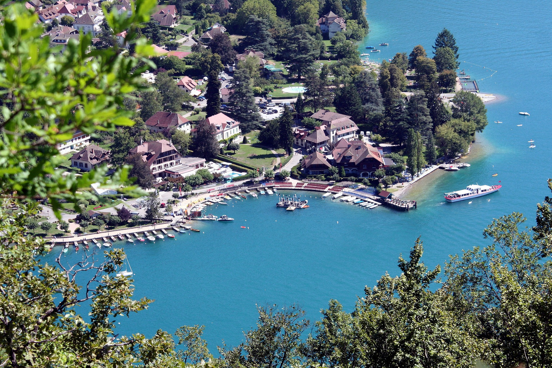 A bird's eye view of Lake Annecy property for sale