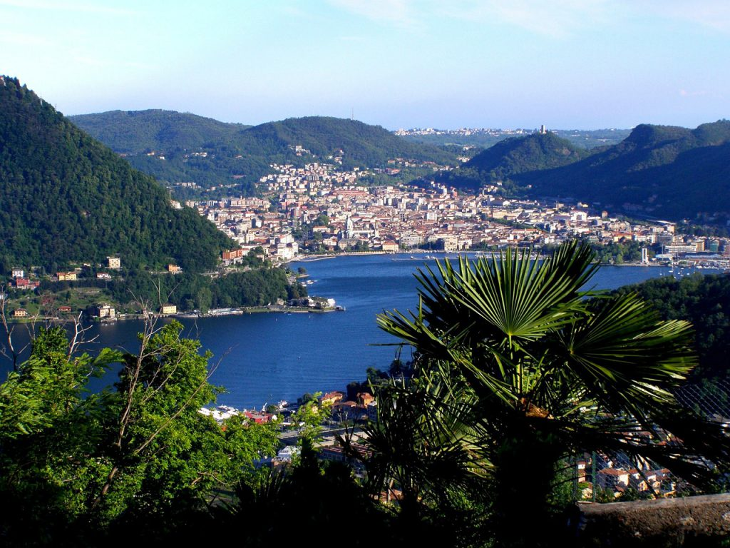 Looking out over Lake Como near our luxury property.