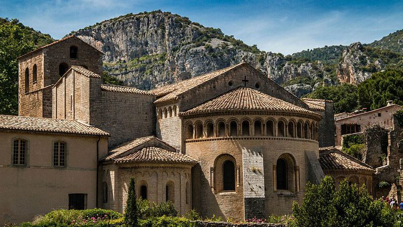 Historical architecture in the Languedoc-Roussillon region, near our French chateau for sale.