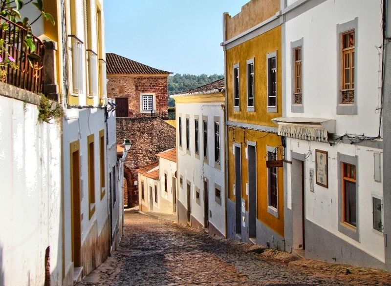 The cobbled streets of Silves, Algarve.