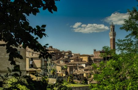 Views of a Tuscan town.