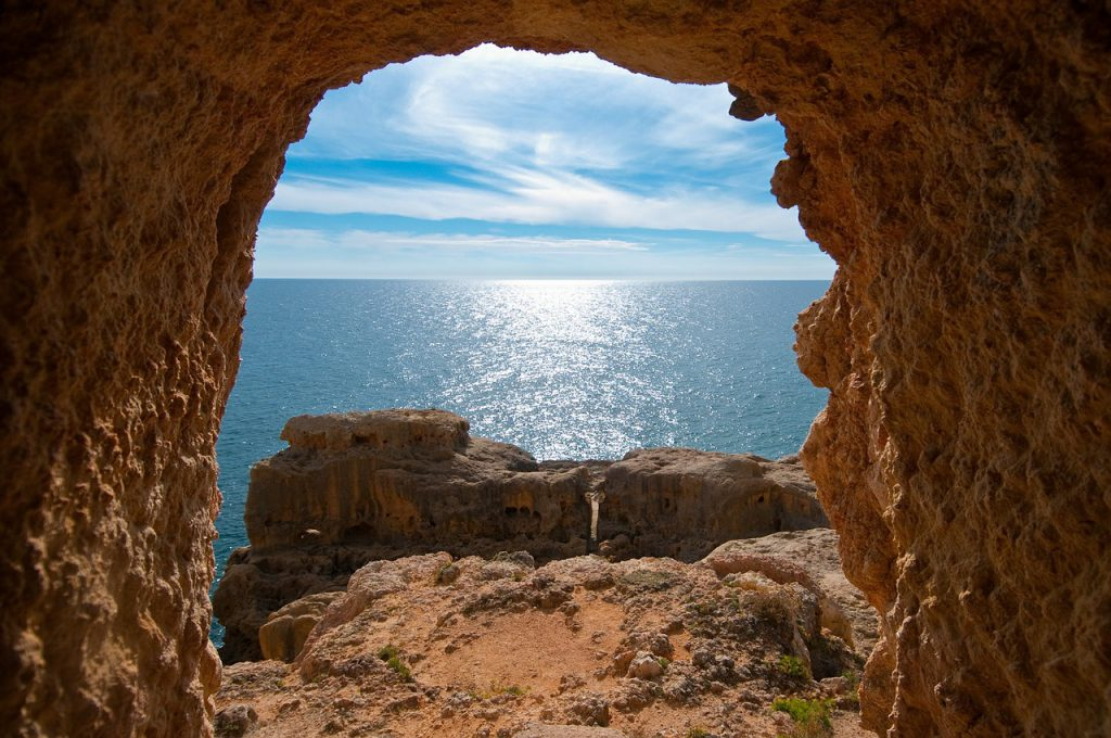 View of the Algarve coast.