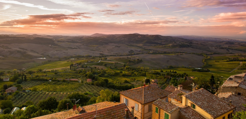 View of Tuscany real estate for sale.