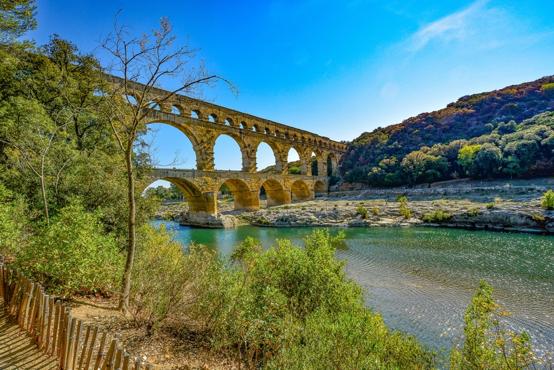 Pont-du-Gard near Uzés.