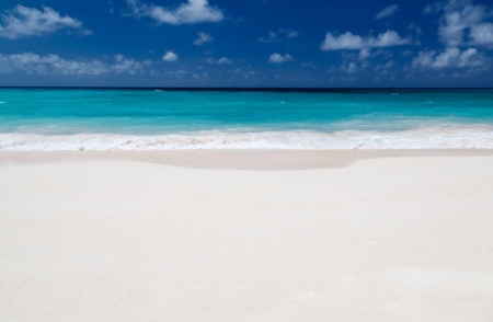 White sand beach of Barbados.