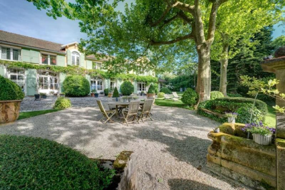 Garden of French property for sale in spa town Aix-le-Bains, Savoie.