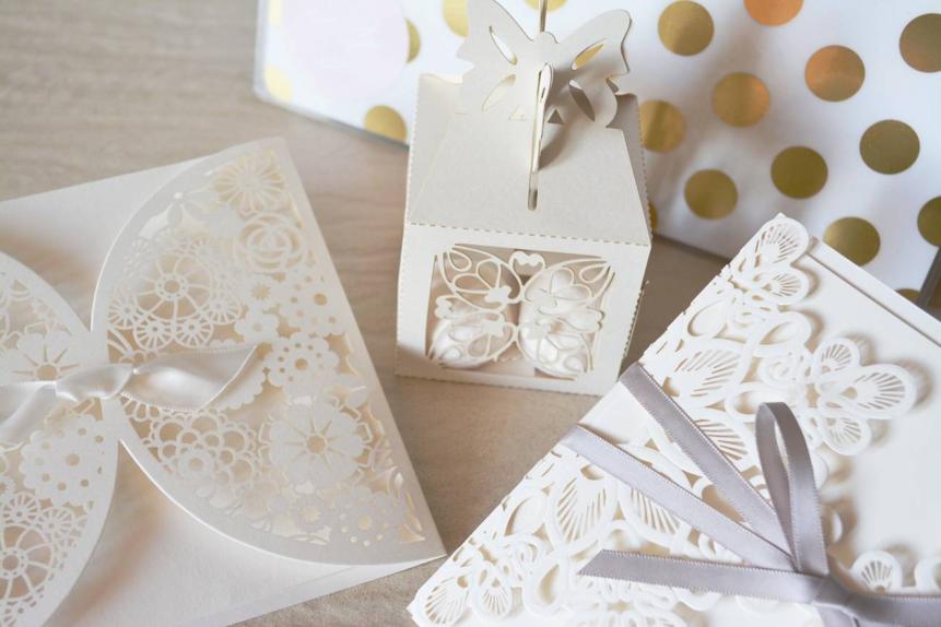 A pretty wedding table arrangement