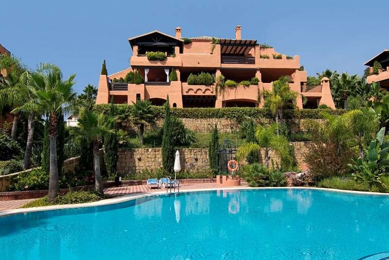 Two bedroom ground floor apartment for sale on Marbella's Golden Mile.