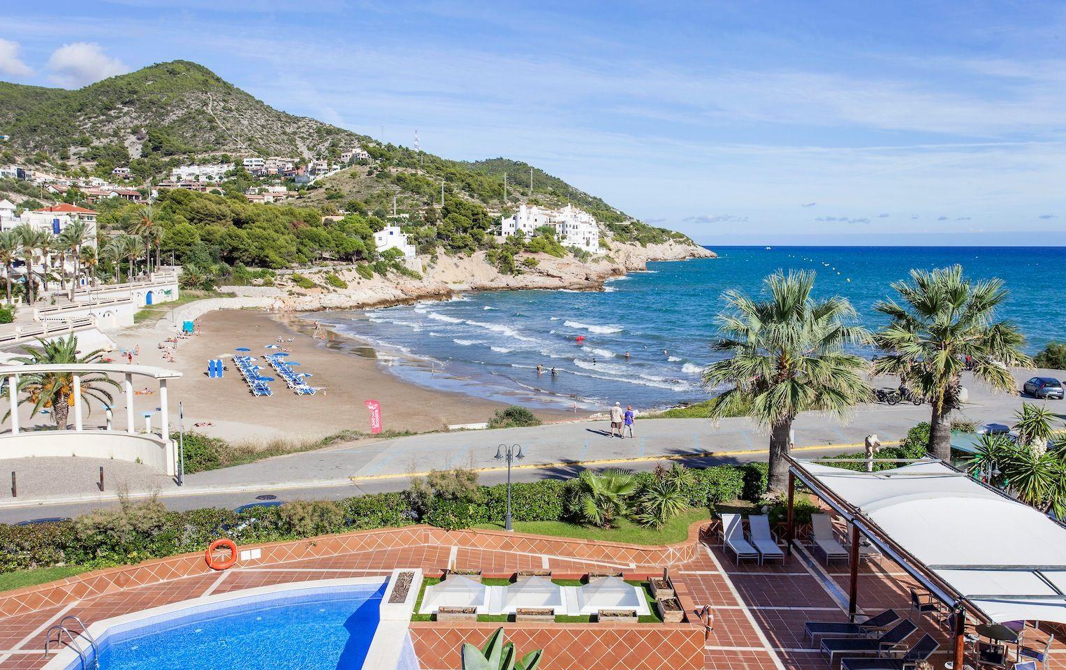 Sitges beach view